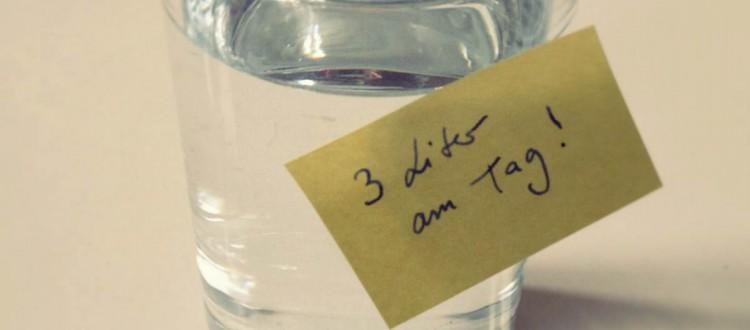 Wasserglas Quadrat