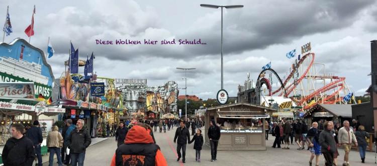 Oktoberfest 2015 mit Wolken